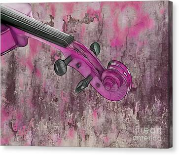 Violinelle - Pink 03b2 Canvas Print by Variance Collections