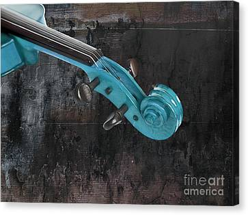 Violinelle - Turquoise 05a2 Canvas Print by Variance Collections