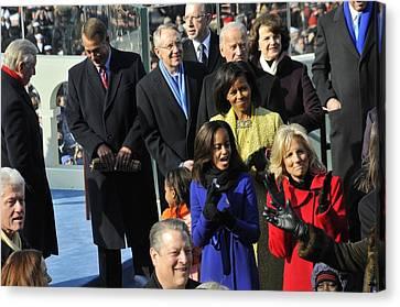 Vips Await The Beginning Of Barack Canvas Print