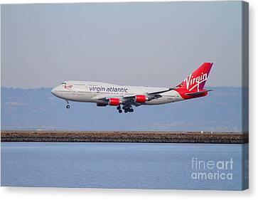 Virgin Atlantic Airways Jet Airplane At San Francisco International Airport Sfo . 7d12193 Canvas Print by Wingsdomain Art and Photography