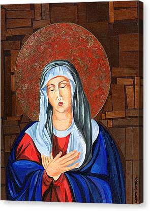 Virgin Mary Canvas Print by Claudia French