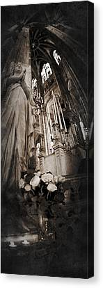 Virgin Mary Canvas Print by Torgeir Ensrud