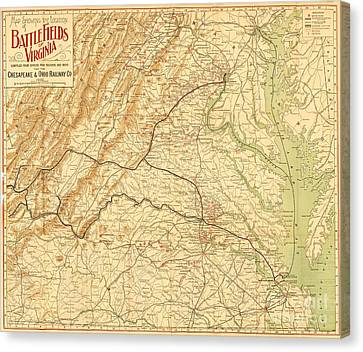Virginia Battlefields Canvas Print by Pg Reproductions