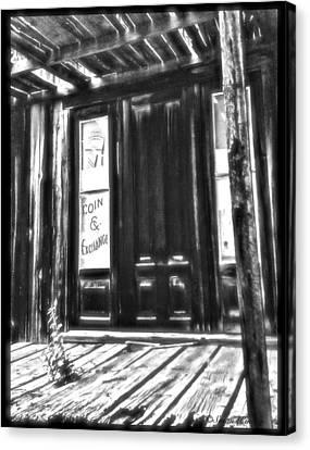 Virginia City Ghost Town Door II Canvas Print by Susan Kinney