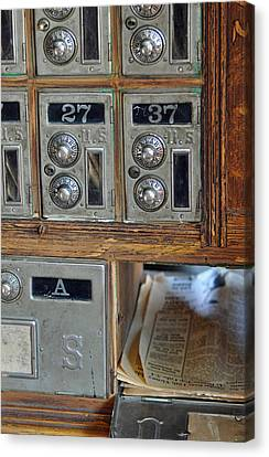 Virginia City Post Office Box Canvas Print by Bruce Gourley