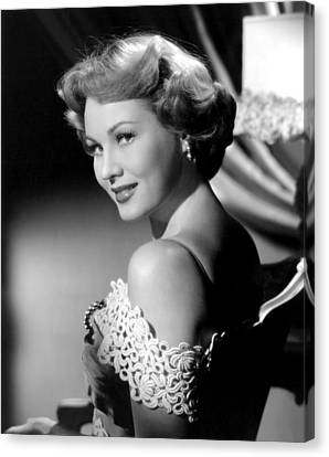 Bare Shoulder Canvas Print - Virginia Mayo, Ca. Early 1950s by Everett