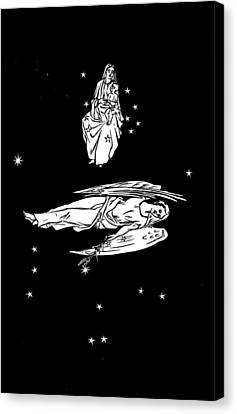 Virgo And Coma Constellations, Artwork Canvas Print by