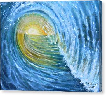 Canvas Print featuring the painting Vision by Dawn Harrell