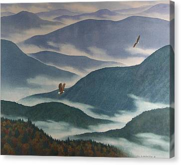 Vision Of The Great Smokies Canvas Print by Glen Heberling