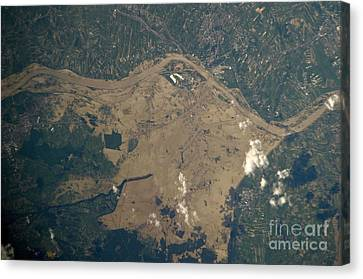 Vistula River Flooding, Southeastern Canvas Print by NASA/Science Source