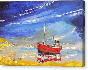 Vital Spark Puffer Canvas Print by Peter Tarrant