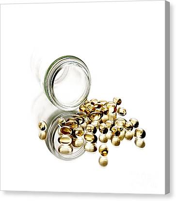 Glass Bottle Canvas Print - Vitamin E by HD Connelly