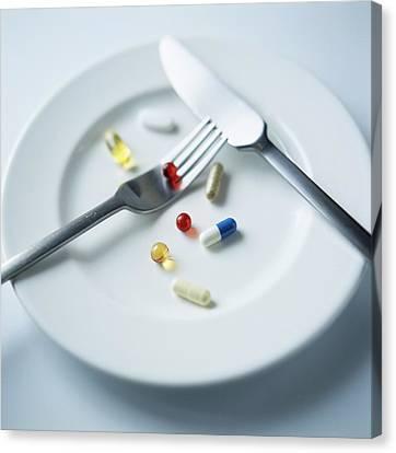 Vitamin Pills Canvas Print by Cristina Pedrazzini