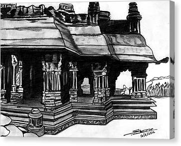 Vittala Temple Hampi Canvas Print by Shashi Kumar