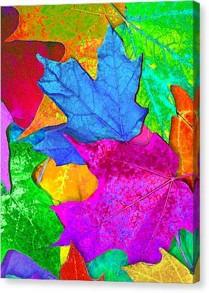Canvas Print featuring the photograph Vivid Leaves 2 by Ginny Gaura