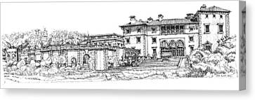Vizcaya Museum And Gardens  Canvas Print by Building  Art