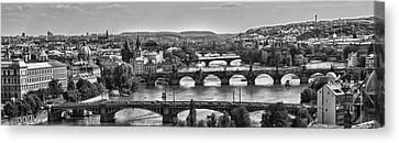 Vltava River Prague Canvas Print by Jason Wolters