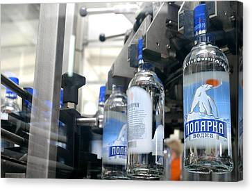 Vodka Bottling Machine Canvas Print by Ria Novosti