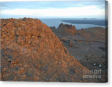 Volcanic Landscape At Sunset Canvas Print by Sami Sarkis