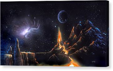 Volcanic Planet Canvas Print
