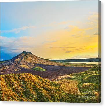 Volcano Batur Canvas Print by MotHaiBaPhoto Prints