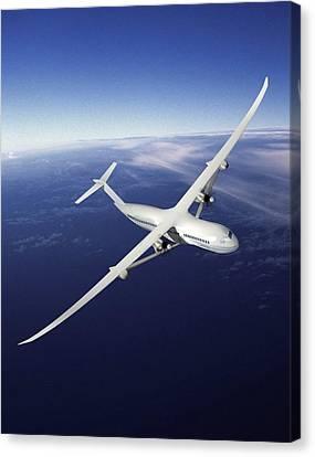 Volt Future Aircraft, Artwork Canvas Print by Nasaboeing