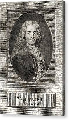 Voltaire, French Author Canvas Print by Middle Temple Library