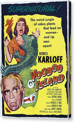 Voodoo Island, Boris Karloff, Beverly Canvas Print by Everett