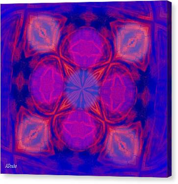 Canvas Print featuring the digital art Voodoo Window by Alec Drake