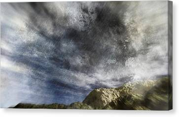 Vortex In The Sky Canvas Print by Georgiana Romanovna