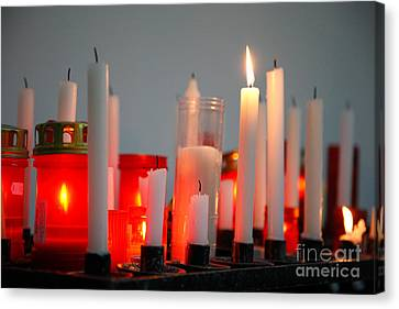 Votive Candles Canvas Print