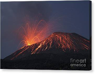 Vulcanian Eruption Of Anak Krakatau Canvas Print by Richard Roscoe