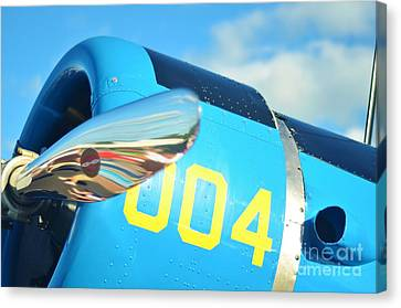 Snv Canvas Print - Vultee Bt-13 Valiant Nose by Lynda Dawson-Youngclaus