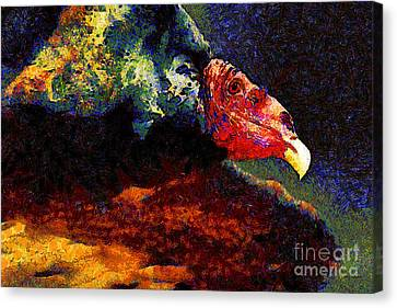 Vulture In Van Gogh.s Dream . 40d8879 Canvas Print by Wingsdomain Art and Photography