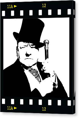Canvas Print featuring the painting W. C. Fields by Jann Paxton