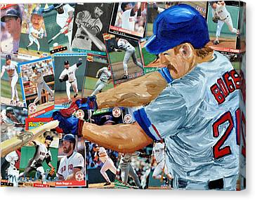 Wade Boggs Canvas Print by Michael Lee