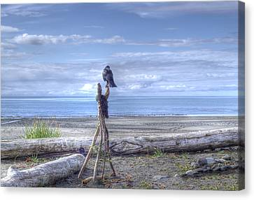 Waiting And Watching Canvas Print by Michele Cornelius