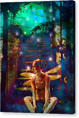Canvas Print featuring the photograph Waiting At The Gates Of Dawn by Nada Meeks