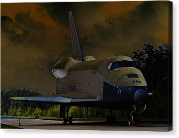 Waiting For Discovery Canvas Print by Lawrence Ott