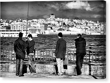Waiting For The Big Catch Canvas Print