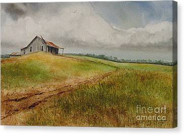 Waiting For The Summers Rain Canvas Print by Charles Fennen