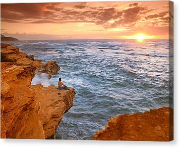 Waiting For The Sun Canvas Print by Alan Hart