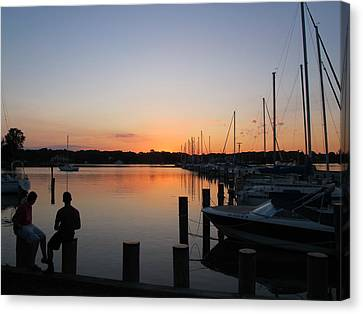 Waiting For The Sunrise Canvas Print by Valia Bradshaw