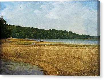 Waiting For The Tide Canvas Print by Terrie Taylor