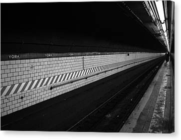 Waiting For The Train - New York City Canvas Print by Vivienne Gucwa