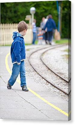 Waiting For Train Canvas Print
