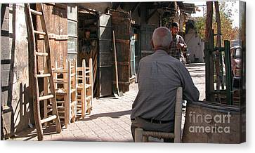 Canvas Print - Waiting In Damascus by Issam Hajjar