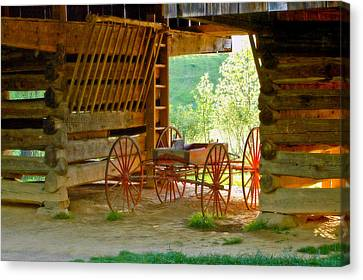Waiting Wagon Canvas Print by Katherine Tucker