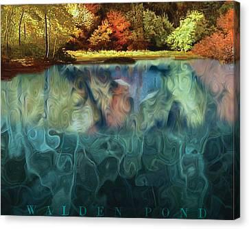 Walden Pond II Canvas Print by David Glotfelty