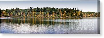Walden Pond Panorama I Canvas Print by Thomas Marchessault
